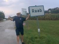 Strömender Regen in Raab
