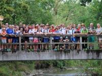 Gruppenfoto auf dem Weg nach Taufkirchen