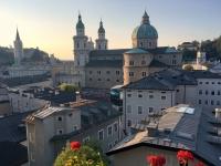Salzburger Dom vom Stieglkeller aus