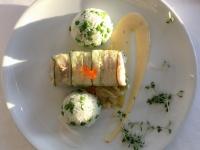 HS Gedämpfter Kabeljau im Zucchini Mantel