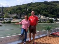 2018 08 24 Traben Trarbach vor dem bayerischen Buffet mit RL Ingrid