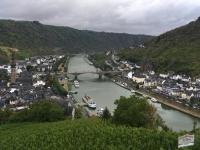 2018 08 25 Cochem Reichsburg Erster Blick von der Burg auf Cochem