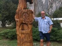 2018 08 31 Aggtelek Baradla Höhle Unesco Logo im Baum