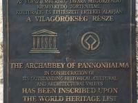 Ungarn Benediktinerabtei Pannonhalma Tafel 1