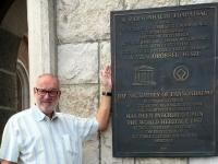Ungarn Benediktinerabtei Pannonhalma Tafel