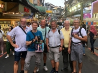 2018 09 23 Taipei Beginn des Rundgangs im Shilin Nachtmarkt