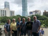 2018 09 24 Taipei Tower 101 von Sun Yat Halle aus gesehen 2