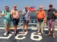 2018 09 26 Tainan Anping Marineschiff 925 Prost auf dem Bug
