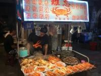 2018 09 23 Taipei Shilin Nachtmarkt Krabbenstand