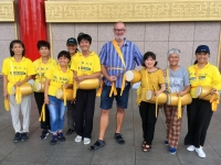 2018 09 24 Taipei Chiang Kai Shek Gedächtnishalle Trommlergruppe