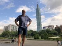 2018 09 24 Taipei Tower 101 von Sun Yat Halle aus gesehen