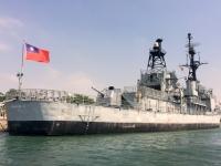 2018 09 26 Tainan Anping Hafenrundfahrt Marineschiff von hinten
