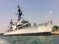 2018 09 26 Tainan Anping Hafenrundfahrt Marineschiff von vorne