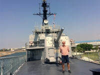2018 09 26 Tainan Anping Kanone auf Marineschiff 925