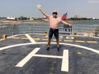 2018 09 26 Tainan Anping Marineschiff 925 Hubschraubereinweisung