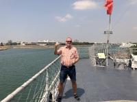 2018 09 26 Tainan Anping Marineschiff 925 Wasserentnahme