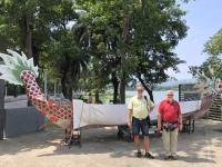 2018 09 28 Kaoshiung Lotussee mit Drachenboot