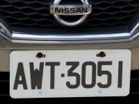 Autokennzeichen Modell 1