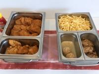 Perfektes Mittagessen vom Gasthaus serviert