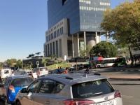 2018 10 21 Johannesburg Jutta wartet im Auto