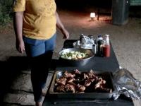 2018 10 24 Maun Sedia Riverside Lodge perfektes Abendessen