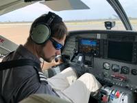 2018 10 25 Flug ins Okawango Delta Pilot