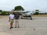 2018 10 25 Flug ins Okawango Delta mit Pilot und Flieger Cessna 208 B