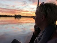 2018 10 25 Okawango Delta Bootsfahrt retour