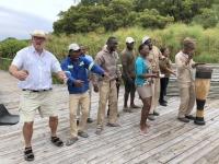 2018 10 25 Okawango Delta Empfang im Mopiri Camp