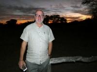 2018 10 25 Okawango Delta Sonnenuntergang im Camp