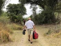 2018 10 25 Okawango Delta Weg zum Boot