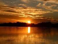2018 10 25 Okawango Delta perfekter Sonnenuntergang