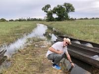 2018 10 26 Okawango Delta Wasserentnahme aus Delta