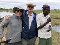 2018 10 26 Okawango Delta mit Brasilianer Adib und Bootsführer