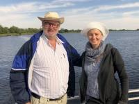 2018 10 27 Fahrt auf dem Okawango Delta zum Flughafen Mopiri