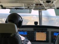 2018 10 27 Landung wieder in Maun nach 35 Minuten Flugzeit