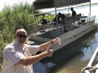 2018 10 28 Chobe Nationalpark Bootsfahrt Wasserentnahme