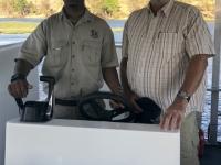 2018 10 28 Chobe Nationalpark Bootsfahrt mit Bootsführer und Guide Jimmy