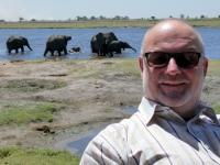 2018 10 28 Chobe Nationalpark  Elefanten gehen ins Wasser