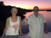 2018 10 29 Bootsfahrt am Sambesi Fluss Sonnenuntergang