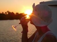 2018 10 29 Bootsfahrt am Sambesi Fluss mit Sonnenuntergang