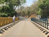 2018 10 30 Fahrt über die Livingstone Brücke nach Sambia