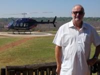 2018 10 30 Victoria Falls unser Hubschrauber für den Rundflug