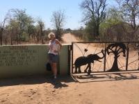 2018 10 31 Livingstone Maramba Lodge Hinweis auf Wildtiere