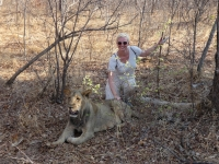 2018 10 31 Walk with the Lions Jutta in ihrem Element