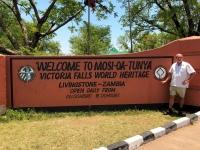 Unesco Sambia Victoria Fälle Tafel