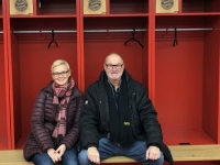 Allianz Arena Führung Kabine des FCB Müller und Alaba Platz