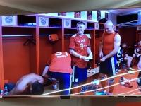 Allianz Arena Führung Kabine des FCB mit Video vom Schweini Abschiedsspiel