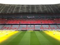 Allianz Arena Führung Mia san Mia Schriftzug