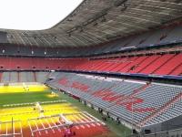 Allianz Arena Führung Schriftzug Mia san mia